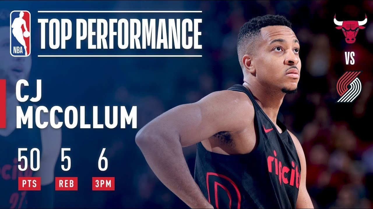 C.J. McCollum drops career-high 50 points in just 3 quarters