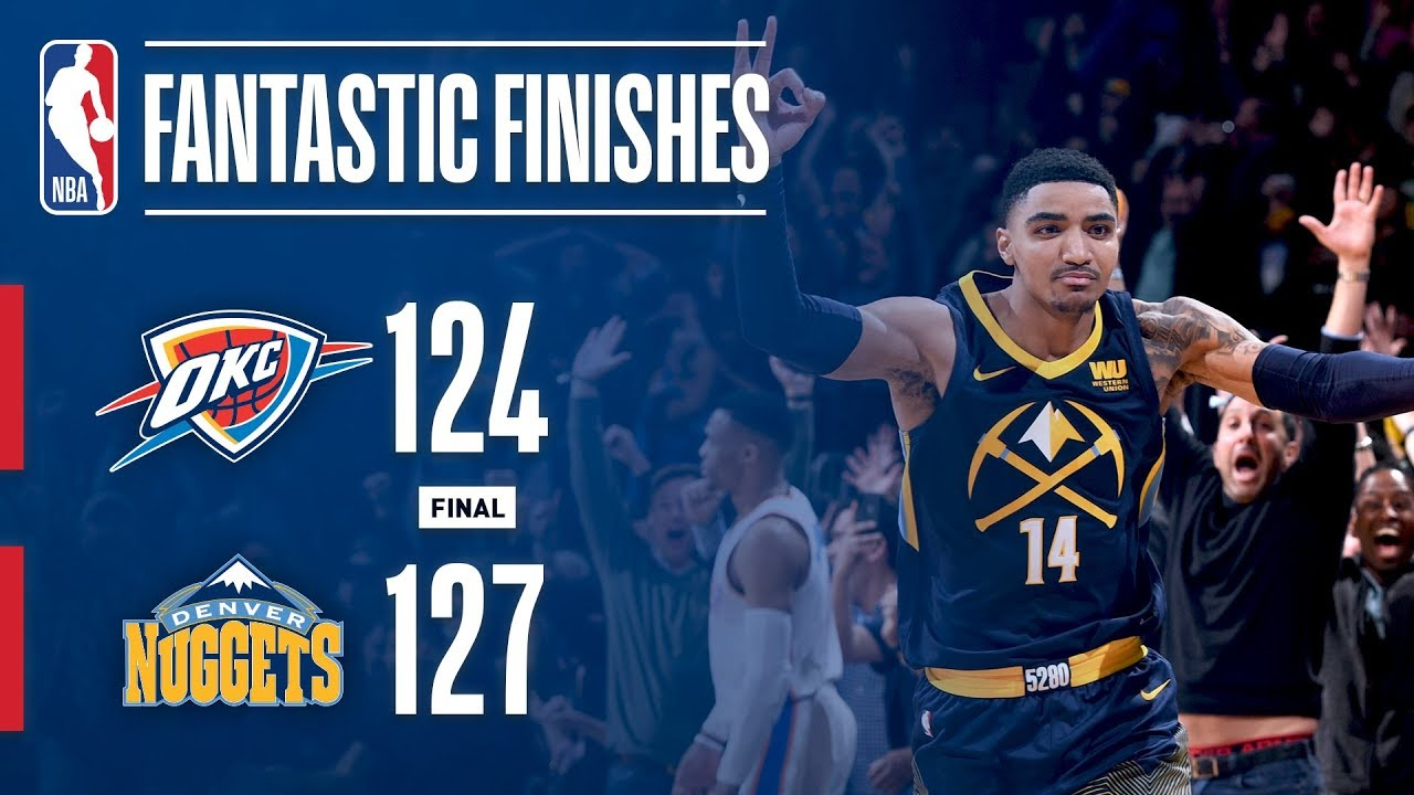 Denver and OKC lay down the craziest finish in the NBA this season
