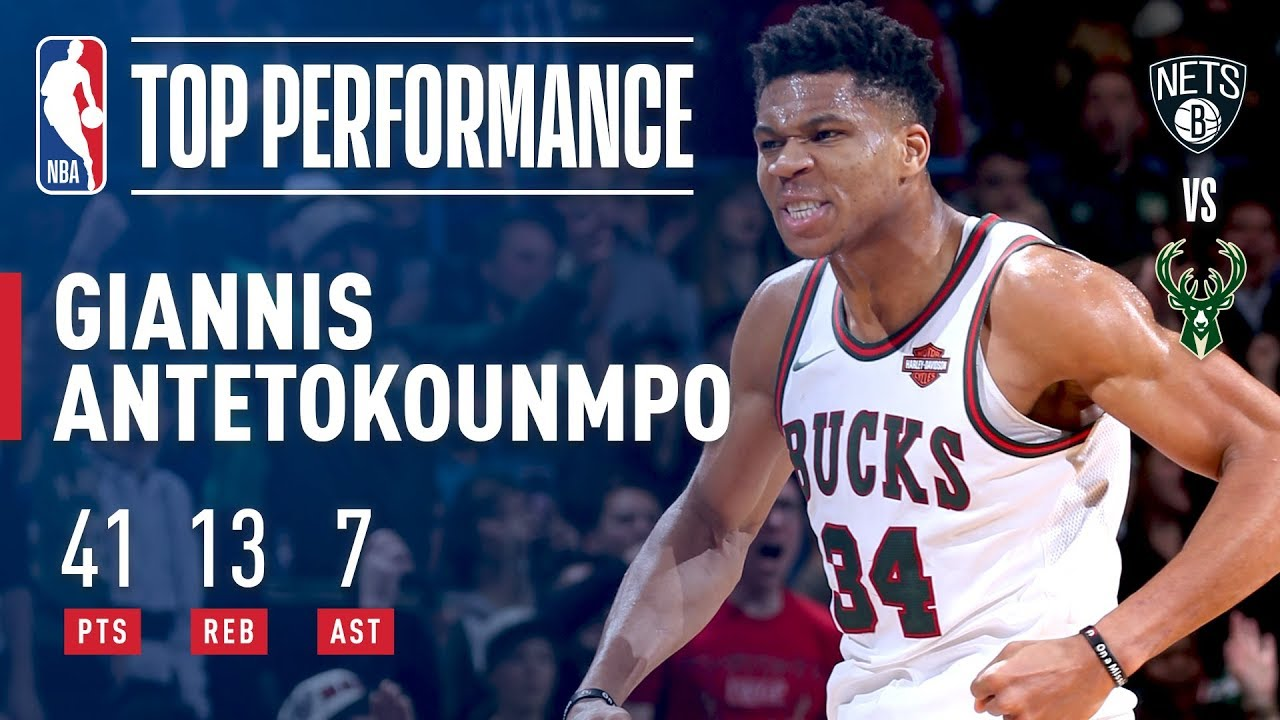 Giannis Antetokounmpo goes off for 41 as the Bucks dominate Brooklyn