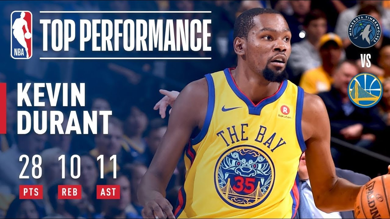 Kevin Durant dominates the Timberwolves for 10th career triple-double