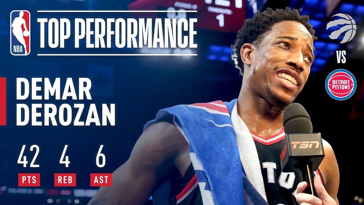 DeMar DeRozan's 42 Points Help Raptors Clinch Playoff Spot in OT Win