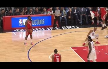 James Harden absolutely cooks Wesley Johnson with a sweet crossover
