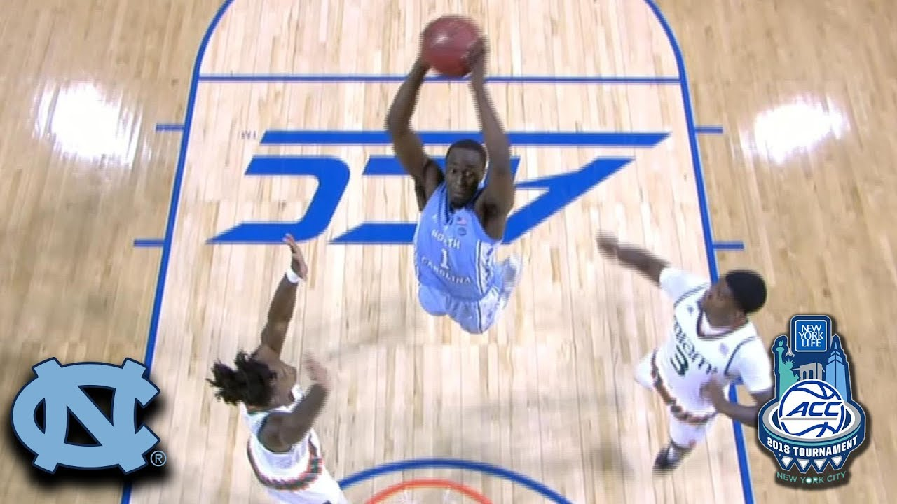 North Carolina Senior Theo Pinson throws down the hammer on Miami