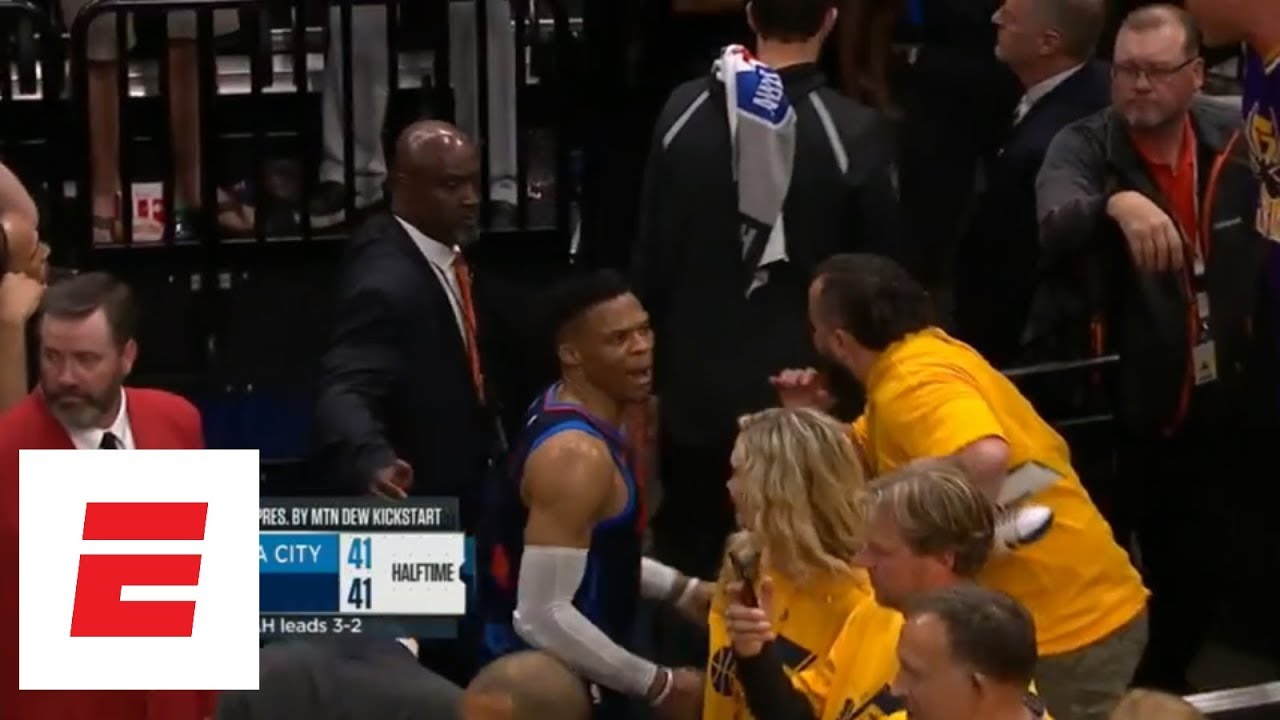Russell Westbrook has confrontations with fans in Game 6 loss to the Jazz
