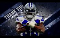 The Dallas Cowboys pay tribute to wide receiver Dez Bryant