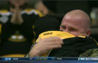 Coast Guardsmen surprises son at Bruins game