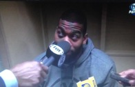 Greg Monroe hit in the face with mic by reporter for not answering question