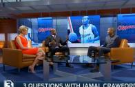 Gary Payton interviews Jamal Crawford of the Los Angeles Clippers