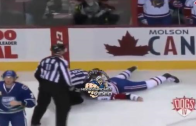 Brutal Hockey fight: Canadiens prospect Jarred Tinordi injured