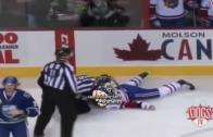 Brutal Hockey fight: Canadiens prospect Jarred Tinordi injured
