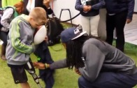 10 year old Seahawks fan has Richard Sherman themed prosthetic leg