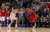 Derrick Rose hits game winning jumper vs. Golden State!