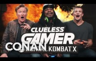 Marshawn Lynch & Rob Gronkowski play each other in Motral Kombat X with Conan
