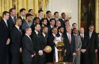 The San Antonio Spurs visit the White House