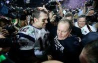 Tom Brady & Bill Belichick speak to the media following Super Bowl win