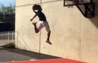 Odell Beckham Jr. throws down a slam dunk and shouts out LeBron James