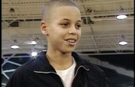 A young Steph Curry interviewed with Dell Curry in Toronto