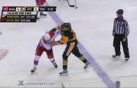 Capitals Michael Latta & Penguins Robert Bortuzzo square off in fight