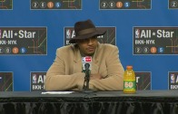 Carmelo Anthony talks Amar'e Stoudemire buyout in post All-Star game press conference