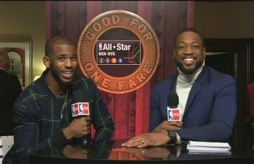 Chris Paul interviewed by Dwayne Wade for NBA All-Star Weekend