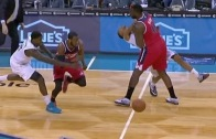 Wizards' DeJaun Blair blows up Brian Roberts on a screen