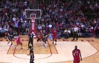 James Harden drops Ricky Rubio, hits a 3-pointer & does a shimmy