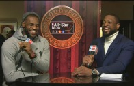 """LeBron James interviewed by Dwayne Wade """"I'm an in game dunker"""""""