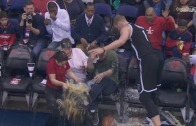 Mason Plumlee spills beer all over the place in Nets vs. Wizards game