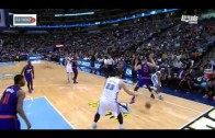 Nuggets' Jusuf Nurkic scores & hands ball to Markieff Morris on the ground