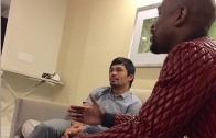Raw footage: Floyd Mayweather tells Manny Pacquiao fight has to happen