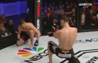 Shane Campbell throws 'Hadouken' from Street Fighter during fight