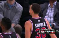 Stephen Curry makes spectacular circus shot in 2015 All-Star Game
