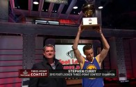 Stephen Curry wins 2015 NBA 3-Point Shootout with a score of 27