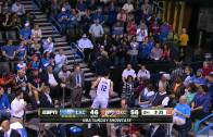 Steven Adams sinks one-handed free throw!