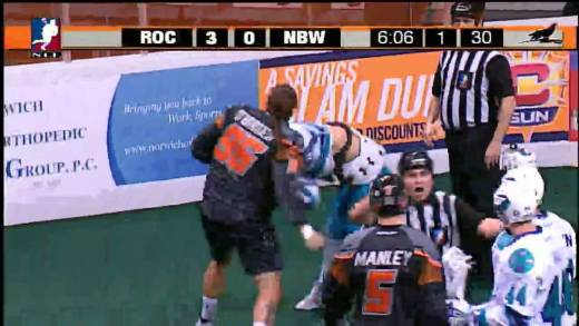 Vicious Lacrosse fight: New England enforcer Bill O'Brien delivers devastating uppercuts in fight