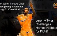 Von Wafer throws a punch & a chair in CBA game + Jeremy Tyler shoves Hamed Haddadi
