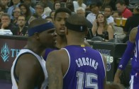 Zach Randolph gets in the face of DeMarcus Cousins & exchange ensues