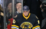 Boston's goalie coach plays back-up