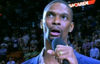 Chris Bosh thanks Miami Heat fans for their support