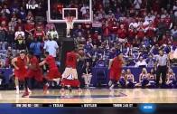 Dayton's Dyshawn Pierre loses shorts while grabbing a rebound