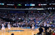 Devin Harris hits half court buzzer beater