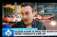 "Foul: Leafs fan says ""FHRITP"" on live TV when asked about Nazem Kadri"