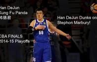 Han DeJun dunks on Stephon Marbury (CBA Basketball)