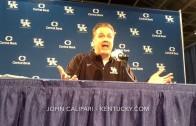 John Calipari speaks on Kentucky going 31-0 in the regular season