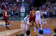 LeBron James blows past entire Bucks team for a massive slam