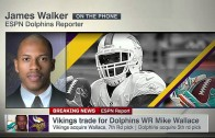 Minnesota Vikings acquire WR Mike Wallace from the Miami Dolphins