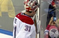 Montreal Canadiens goalie Carey Price takes selfie with kid during game