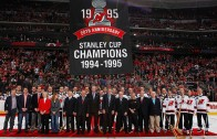 New Jersey Devils honor the 1995 Stanley Cup Champion Devils