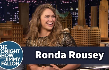 Ronda Rousey demonstrates armbar on Jimmy Fallon