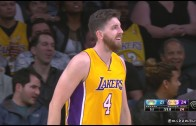 Ryan Kelly with an atrocious hook shot attempt
